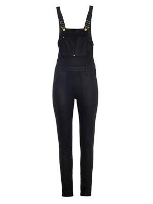 Le High Skinny stretch-denim overalls