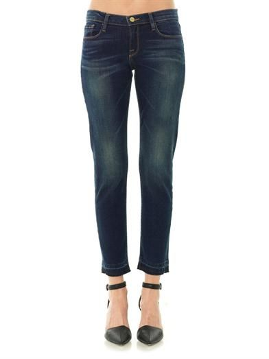 Frame Denim Le Garcon mid-rise tailored boyfriend jeans