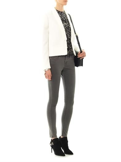 Frame Denim Le Luxe Noir mid-rise skinny jeans