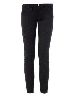 Le Luxe Biker low-rise skinny jeans