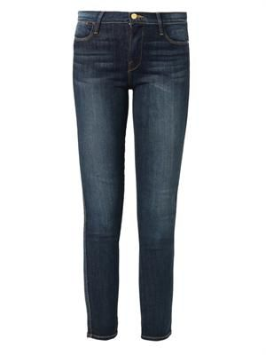 Le High Straight high-rise cropped jeans