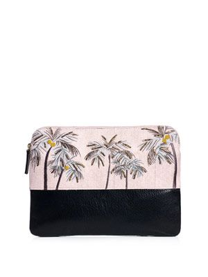 Safari palm tree clutch