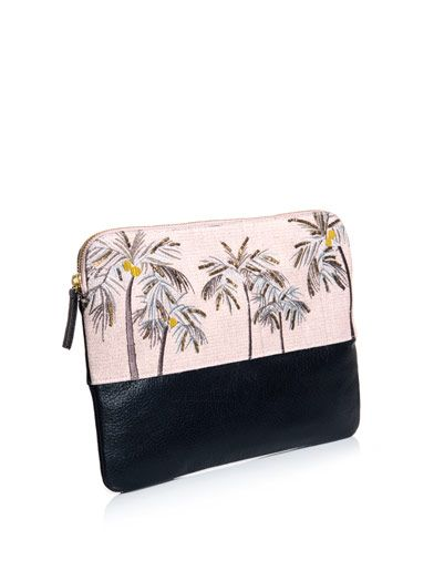 Lizzie Fortunato Safari palm tree clutch