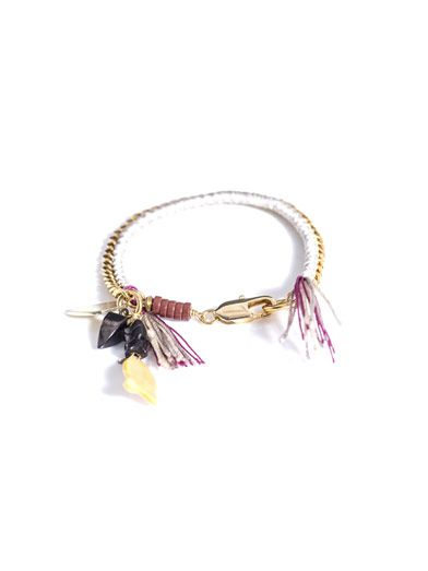 Lizzie Fortunato Woven chain and thread bracelet