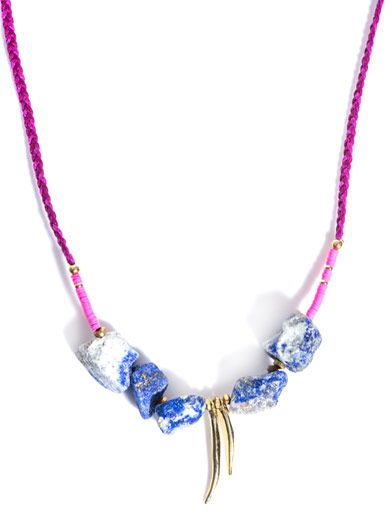 Lizzie Fortunato Lapis bead braided necklace