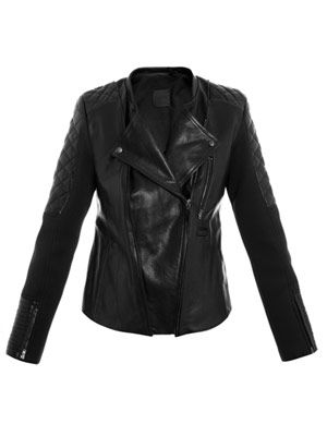 Raork leather and scuba biker jacket