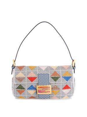 Baguette graphic beaded bag