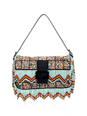 Tassel beaded Baguette bag