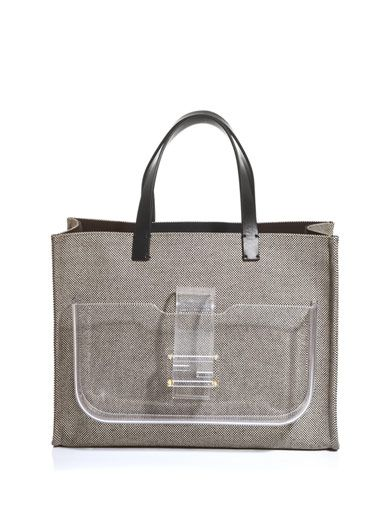 Fendi Simply Shopping canvas tote