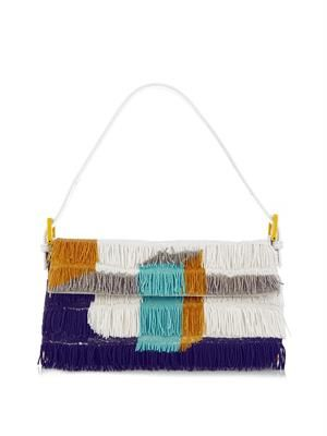 Baguette beaded fringe bag