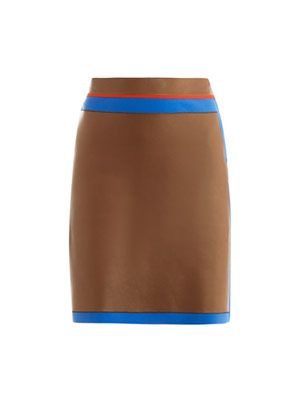Leather and neoprene skirt