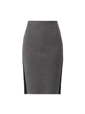 Fleece-wool pencil skirt