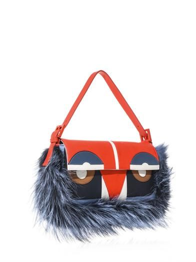 Fendi Baguette Bag Bugs leather bag