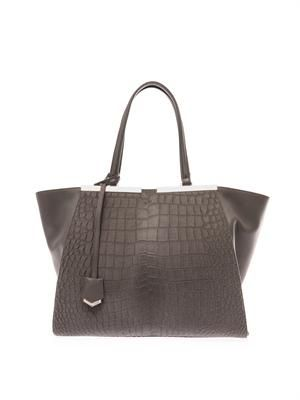 3Jours trapeze wing calf-hair tote