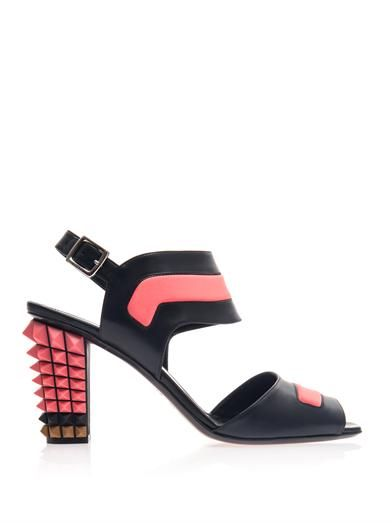 Fendi Polifina studded heel sandals
