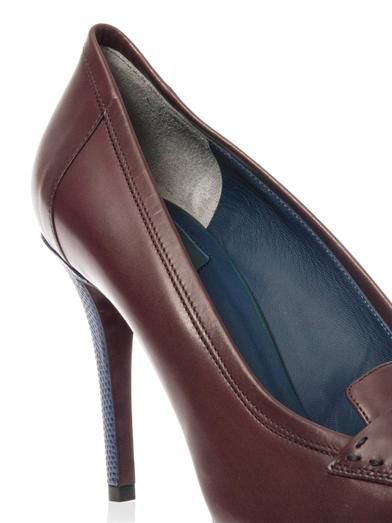 Fendi Andrea leather pumps