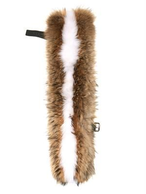 Finn leather-strap fur scarf