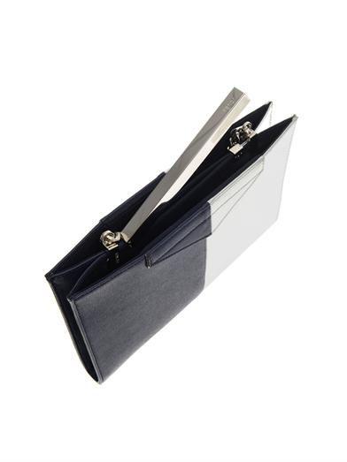 Fendi Bi-colour leather clutch