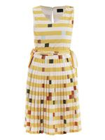 Lego-print full-skirt dress