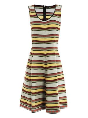 Stripe cotton-knit dress