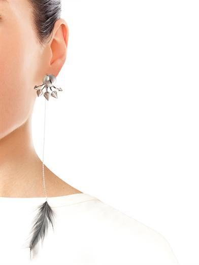 Fendi Mother-of-pearl lobe-cuff earring
