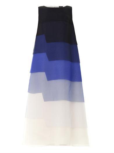 Fendi Layered silk-organza gown