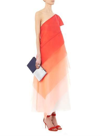 Fendi Tiered dégradé silk-organza dress