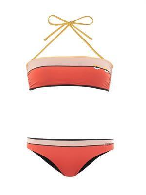 Bag Bugs-print bandeau bikini