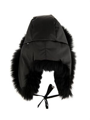 Fox-fur trapper hat