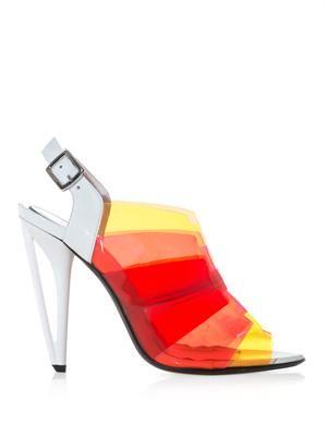 Iridia ombré PVC sandals
