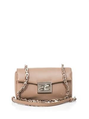 Baguette mini leather bag