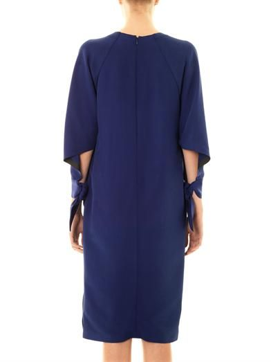 Fendi Tie cuff crepe dress