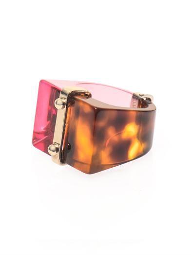 Fendi Colour-block ring