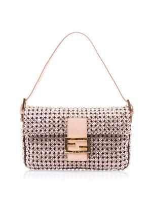 Baguette crystal embellished bag