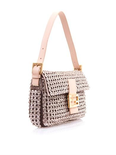 Fendi Crystal embellished Baguette bag
