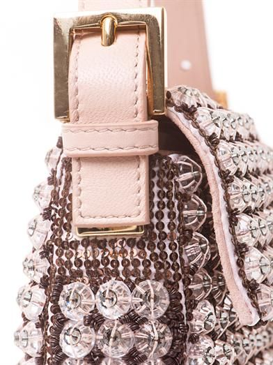 Fendi Baguette crystal embellished bag