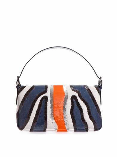 Fendi Zebra sequin Baguette bag