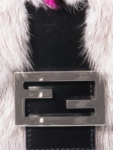 Fendi Mink and fox fur Baguette bag
