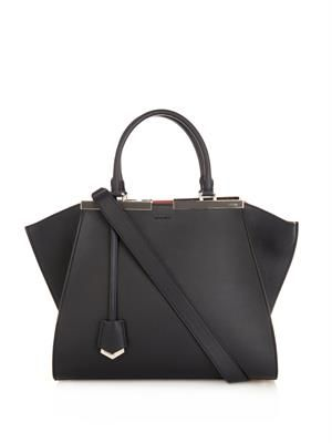 3Jours trapeze wing small leather tote