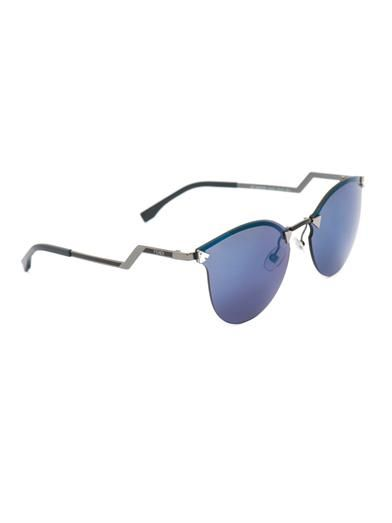 Fendi Iridia crystal-embellished sunglasses