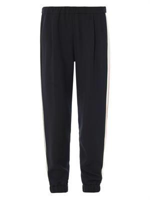 Contrast stripe tuxedo trousers