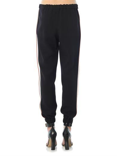 Fendi Contrast stripe tuxedo trousers