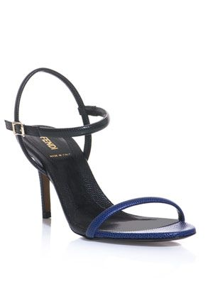 Bfab lizard textured leather sandals