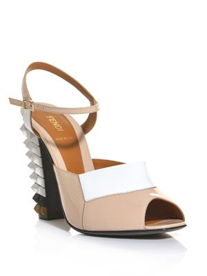 Polifonia studded heel sandals