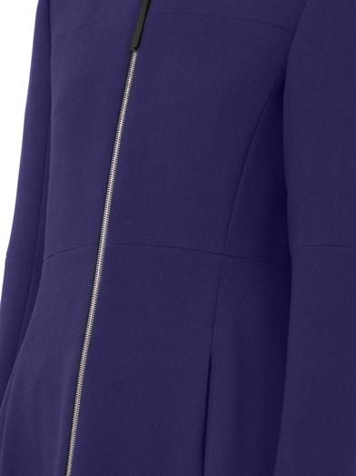 Marni Collarless zip-front princess coat