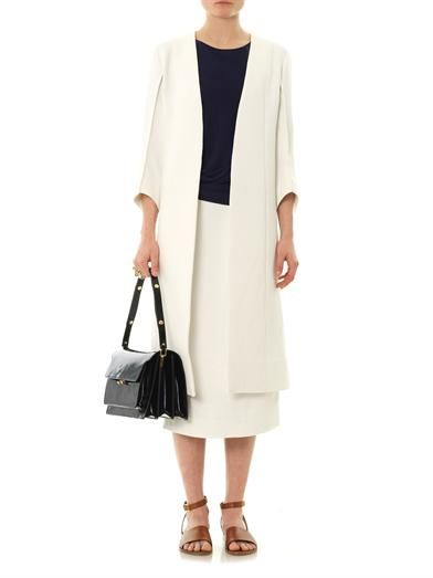Marni Textured crepe side-split coat