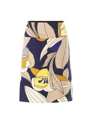 Floral Caline pencil skirt