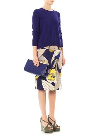 Marni Floral Caline pencil skirt