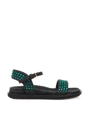 Fussbett embellished felt sandals