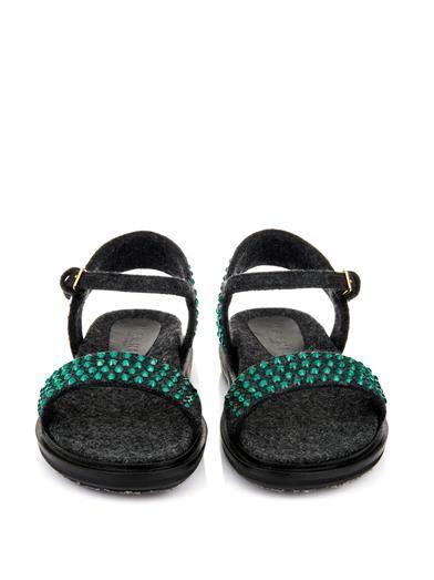 Marni Fussbett embellished felt sandals